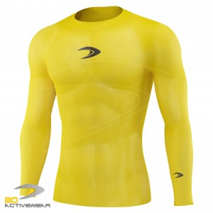 Compression Armour Base Layer Top Long Sleeve Thermal Gym Sports Shirt