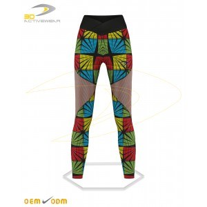 Arrow Shape with mesh panels legging