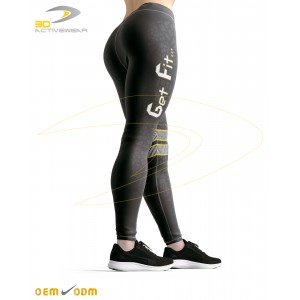 Black & Gray Sublimation Yoga Legging
