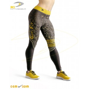 Black Yoga Sublimation Legging
