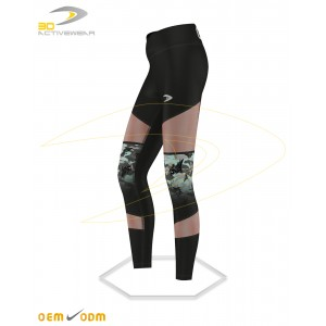 Camouflage with mesh panels legging
