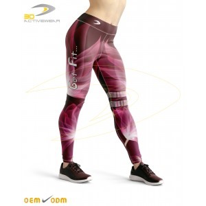Dark Red Sublimation Legging
