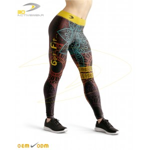 Dark Yoga Flowers Sublimation Legging