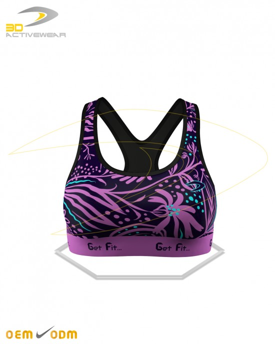 Flowers Gym Padded Bra