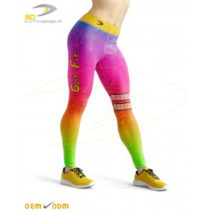 Fluorescent Sublimation Legging