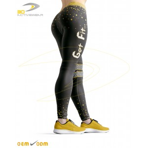 Golden Dots Sublimation Legging