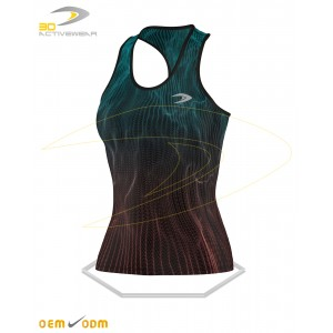 Water waves tank top front