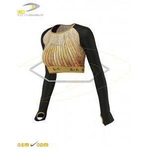 Wooden long sleeve crop top